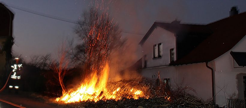 Brand Grünschnitt Kirchübel